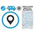 Map Marker Icon with 1000 Medical Business vector image