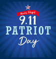 never forget patriotl day usa star blue stripes vector image vector image