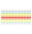 olive shape halftone spectrum pattern vector image vector image