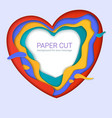 paper-cut heart shapes with shadow realistic vector image vector image