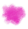 pink crayon scribble texture stain isolated on vector image