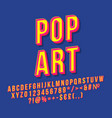 pop art vintage 3d lettering vector image