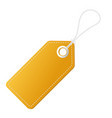 realistic discount yellow tag for sale promotion vector image vector image