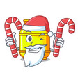santa with candy gas tank cylinder isolated on vector image vector image