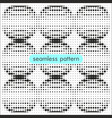 seamless patterns with halftone dots 15 vector image vector image