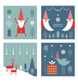 set christmas cards banners label tags vector image vector image