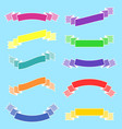 set of isolated flat colored ribbons banners on a vector image vector image