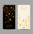 set vertical banners autumn maple leaves on vector image