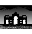 Silhouette of Arab buildings sea clouds vector image vector image