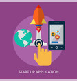 start up application conceptual design vector image vector image