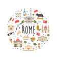 tourist abstract design with famous destinations vector image vector image