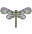 Tribal dragonfly vector image