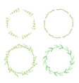 watercolor green eucalyptus leaves circle wreath vector image vector image