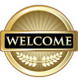 welcome gold icon vector image vector image
