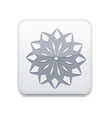 white Snowflake icon Eps10 Easy to edit vector image vector image