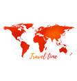 world map on white background vector image vector image