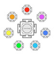 Yantras set icon with copy space sacred geometry