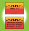 yellow and red business card vector image