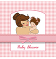 young mother holding a new baby girl vector image