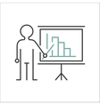 Presentation sign teacher icon standing with vector image