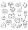 set of cute and fun ice cream vector image