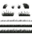 grass seamless black and white vector image