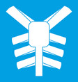 human thorax icon white vector image