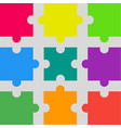 9 colorful puzzle pieces jigsaw puzzles marketing vector image