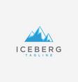 abstract modern iceberg logo icon template vector image