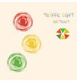 Abstract traffic light colorful background vector image