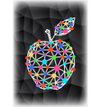 Abstract triangle apple with background vector image