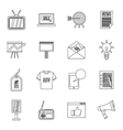 Advertisement icons set outline style vector image vector image