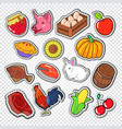 agriculture doodle with bio food natural products vector image vector image