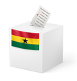 Ballot box with voting paper Ghana vector image