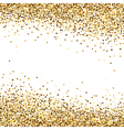 Banner of Gold Sequins vector image vector image