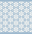blue ornamental floral seamless pattern geometric vector image vector image