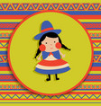 bolivian girl vector image vector image