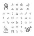 boy icons vector image vector image