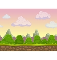 Cartoon seamless nature landscape vector image