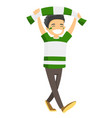 caucasian white sport fan supporting his team vector image