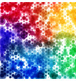 circular rainbow color spectrum pattern square vector image