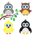 Colorful baby birds vector image vector image