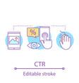 ctr concept icon vector image vector image