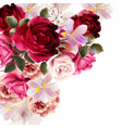 cute flower bouquet for design vector image