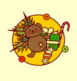 cute toys icon merry christmas and happy new year vector image vector image