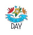 dia de los day logo mexican day dead vector image vector image