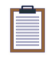 document clipboard report symbol isolated blue vector image vector image