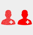 dotted and flat doctor icon vector image vector image