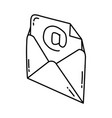 email icon doodle hand drawn or outline icon style vector image vector image