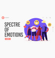 empathy hugs with friends landing page template vector image vector image